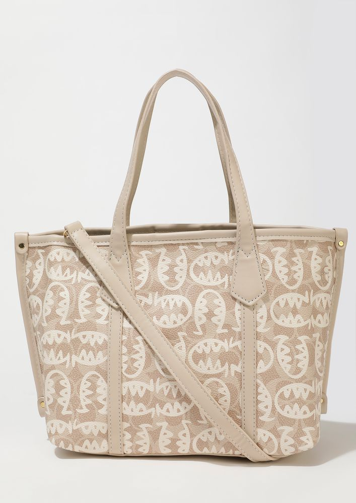 SPACED YOU OUT KHAKI TOTE BAG