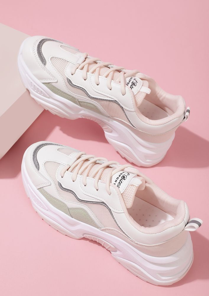 RUNNING OUT OF EXCUSES PINK TRAINERS