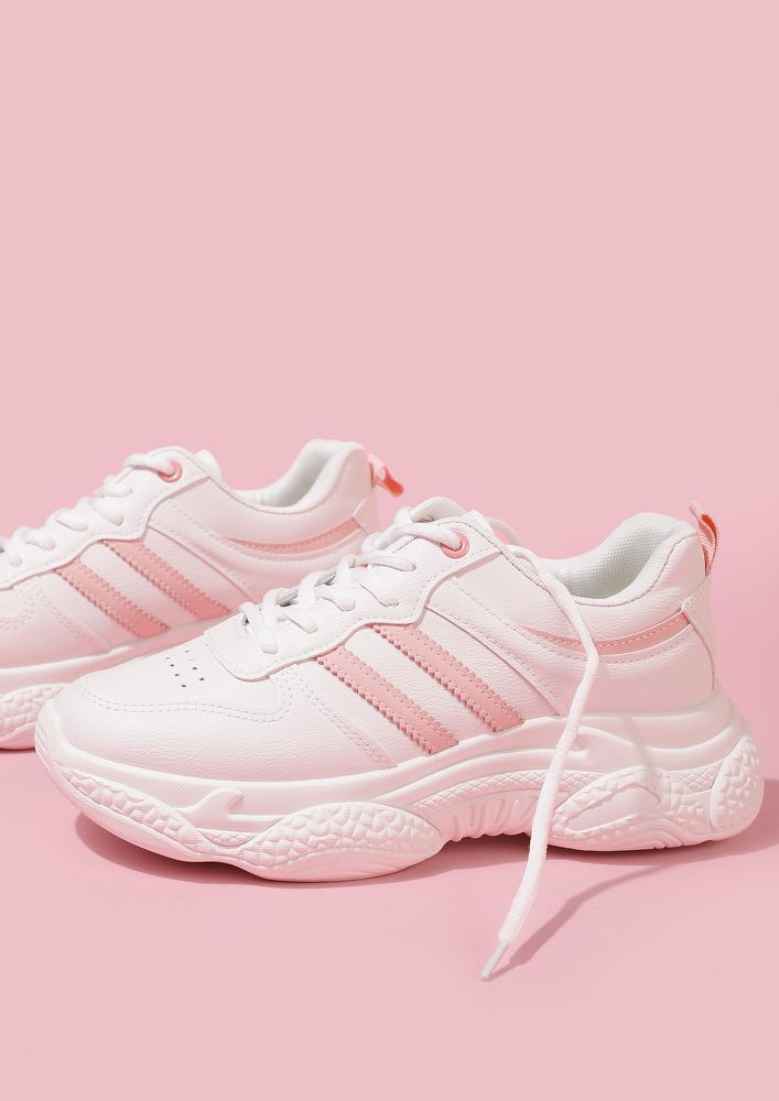 ALWAYS GYM READY PINK WHITE TRAINERS
