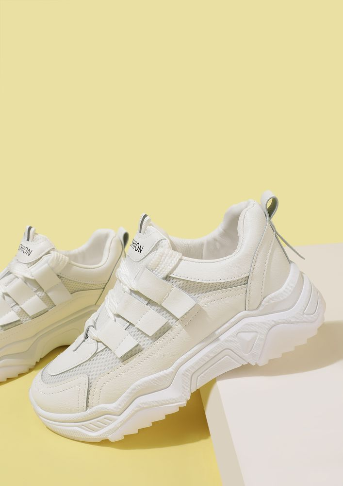 SLIP IN STYLE WHITE TRAINERS