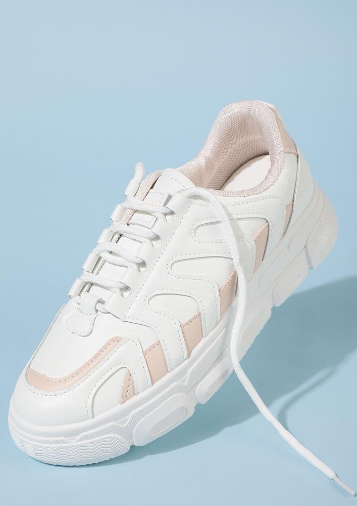 THEY WILL COME RUNNING PINK WHITE TRAINERS