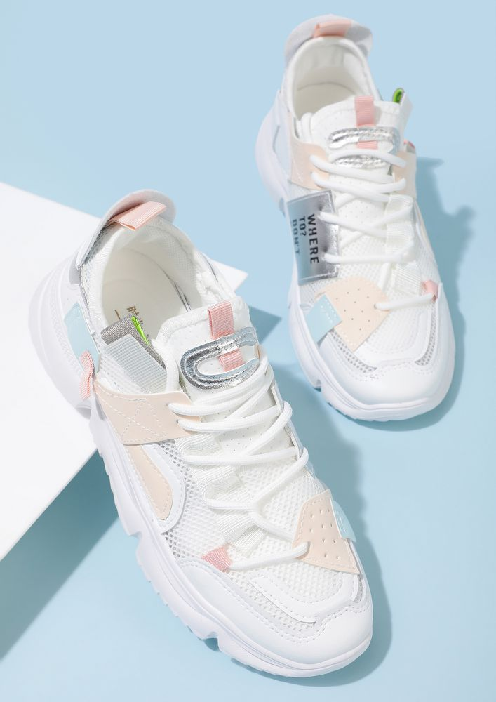 SPORTY-RAMP READY PINK TRAINERS