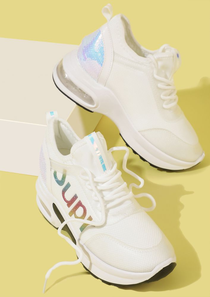 DEAD LIFT READY WHITE TRAINERS