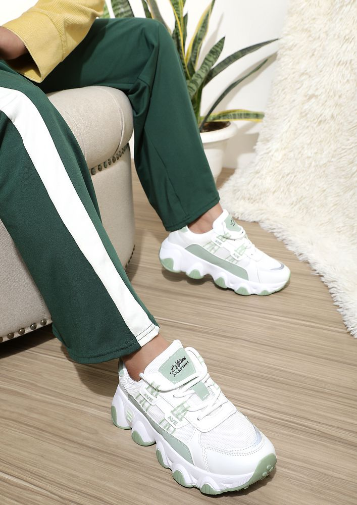 OLD SCHOOL CHARM GREEN TRAINER