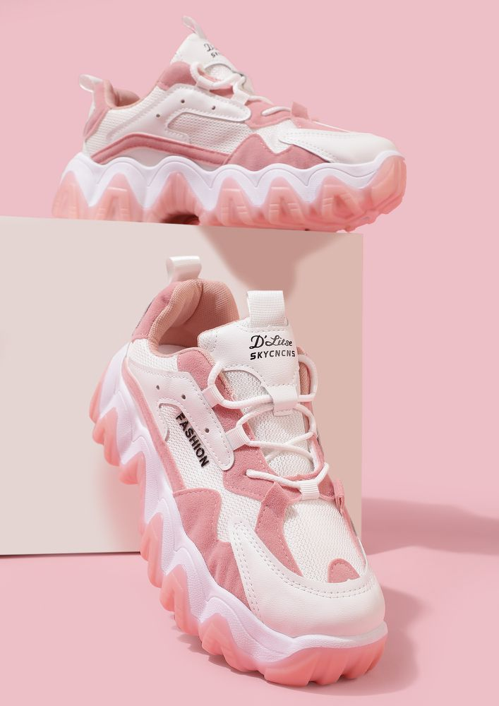 GOING FORWARD PINK TRAINERS