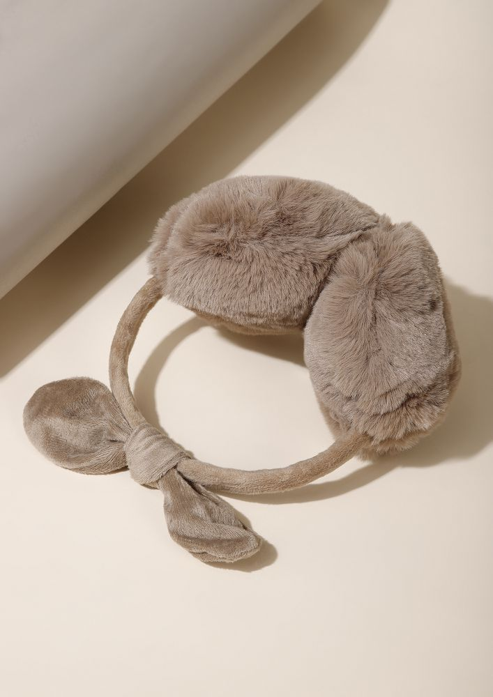 CHILLY WINTER NIGHTS BROWN  EARMUFFS