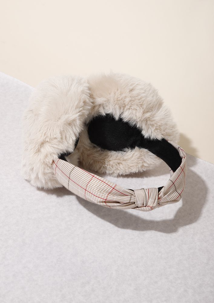 WINTER READY STYLE TAUPE EARMUFFS