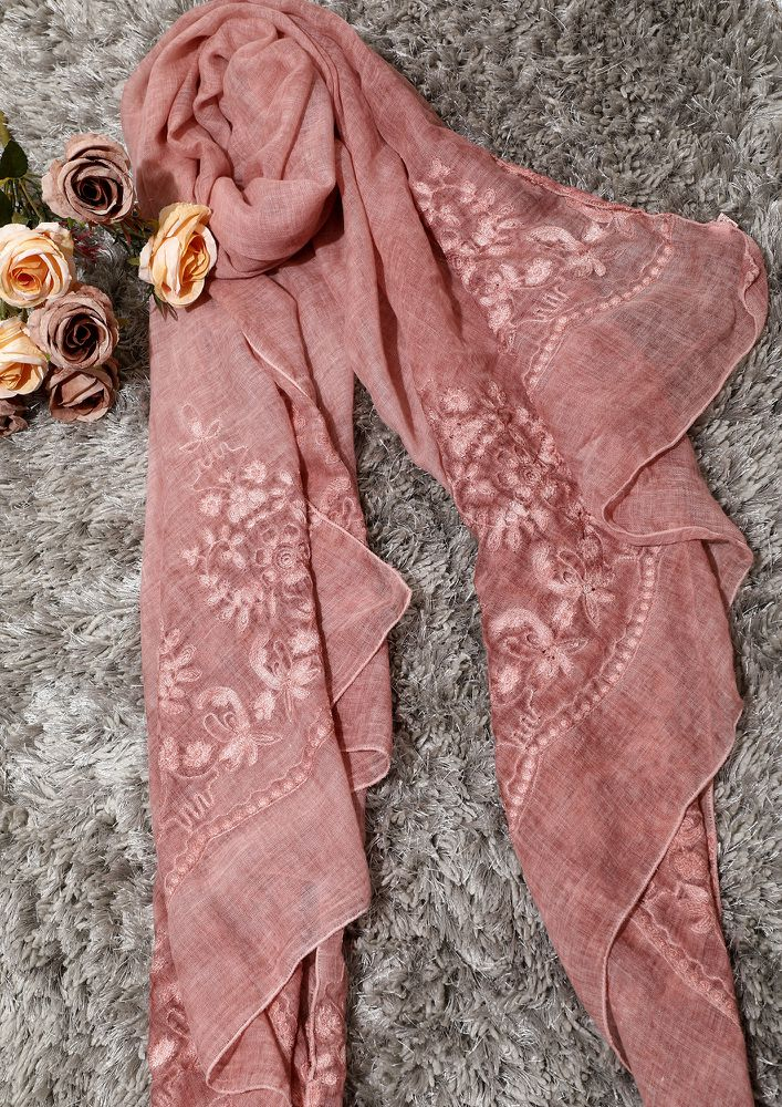 STRAWBERRY MUSINGS PINK SCARF