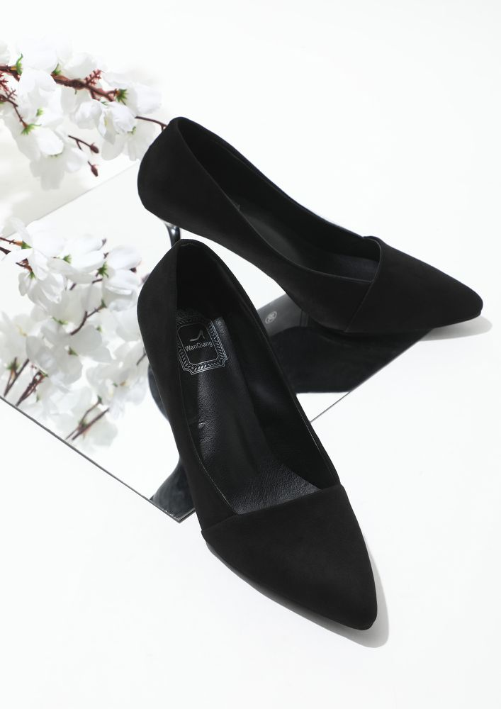WHAT'S ON YOUR FEET BLACK HEELED SANDALS