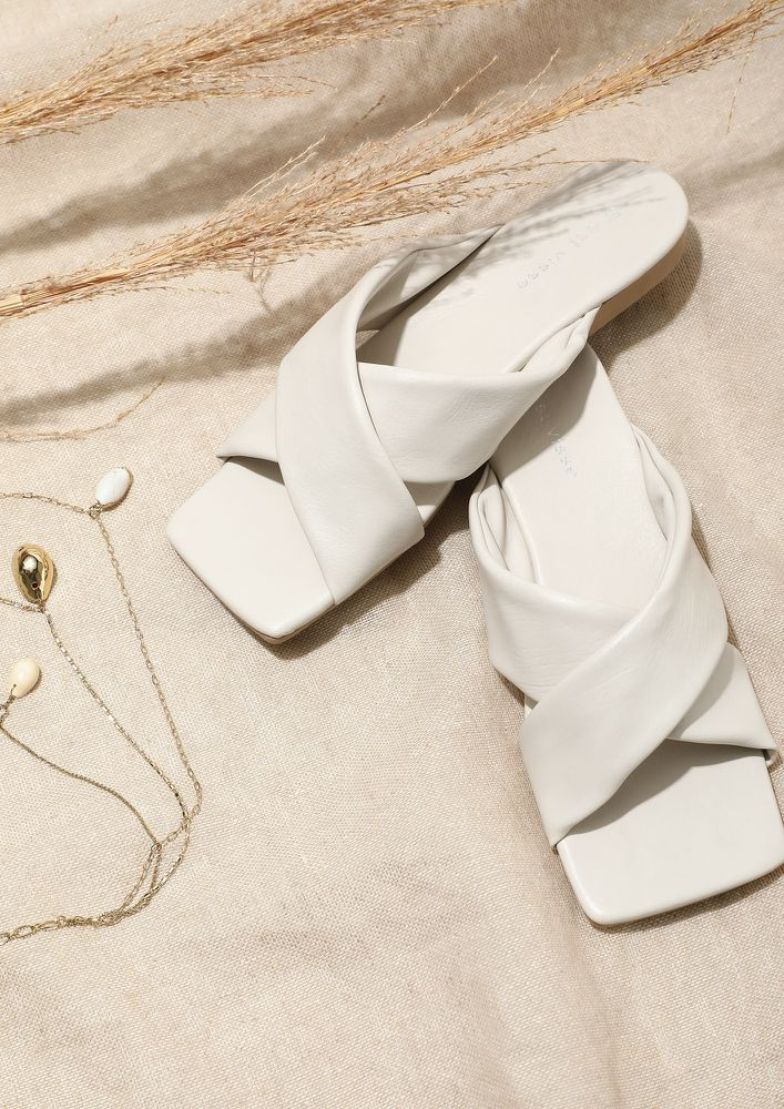 FLAT FOR YOU BEIGE FLAT SANDALS