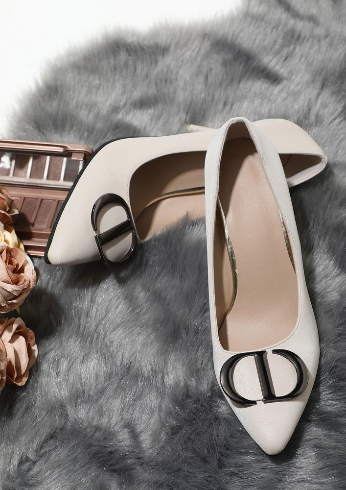 TAKING ME HIGHER WHITE HEELED SANDALS