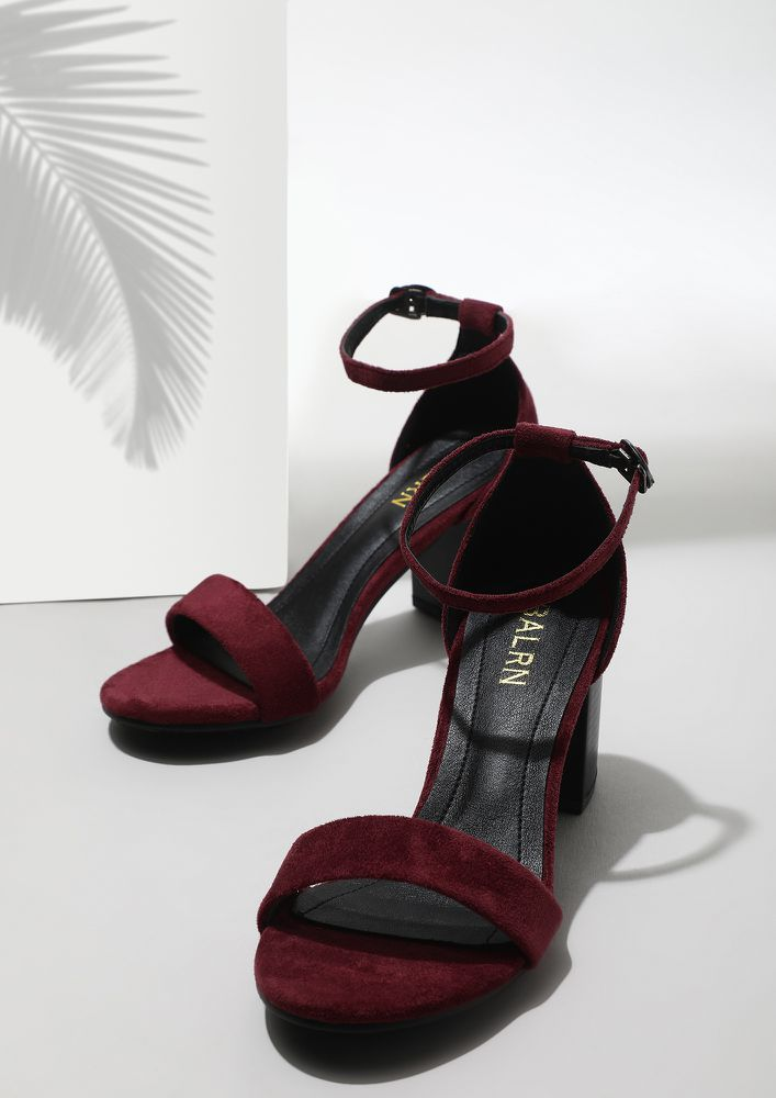 DREAMS LAID ON THE FLOOR WINE OPEN TOE SANDALS