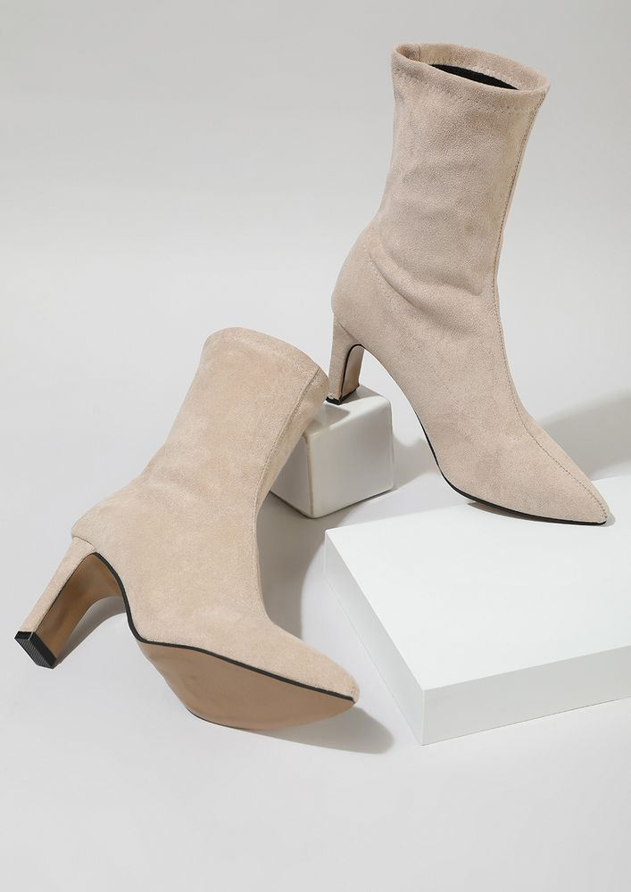 KEEP IT REAL BEIGE ANKLE BOOTS