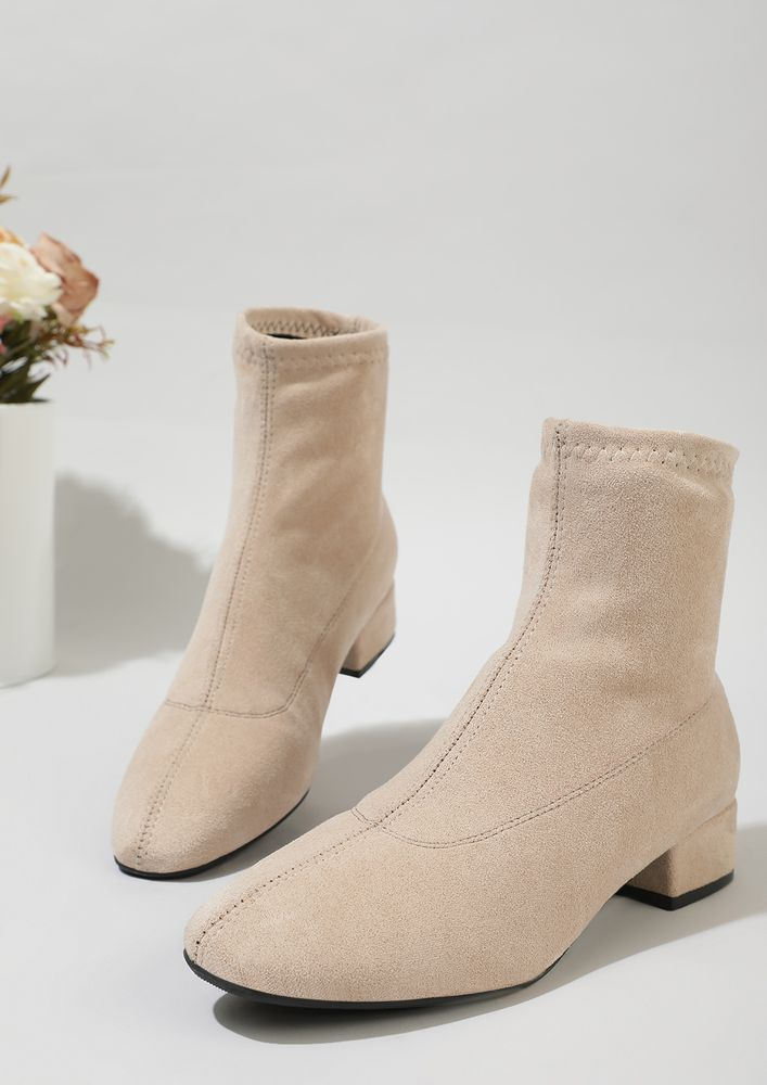 CHANGE YOUR ROUTINE BEIGE BOOTS