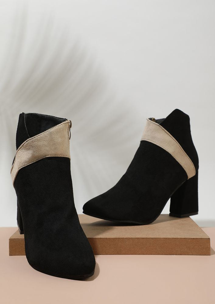 MINIMUM DEETS MAX IMPACT BLACK ANKLE BOOTS