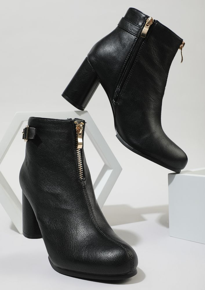 NO JUDGEMENT BLACK ANKLE BOOTS