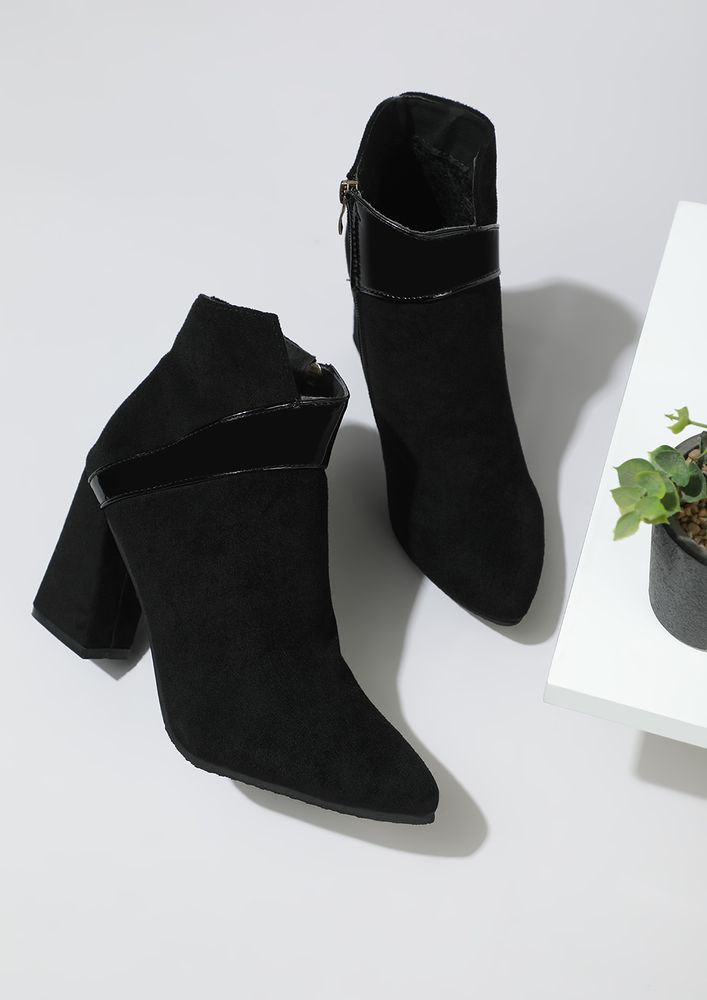 PRETTY NEUTRAL BLACK ANKLE BOOTS
