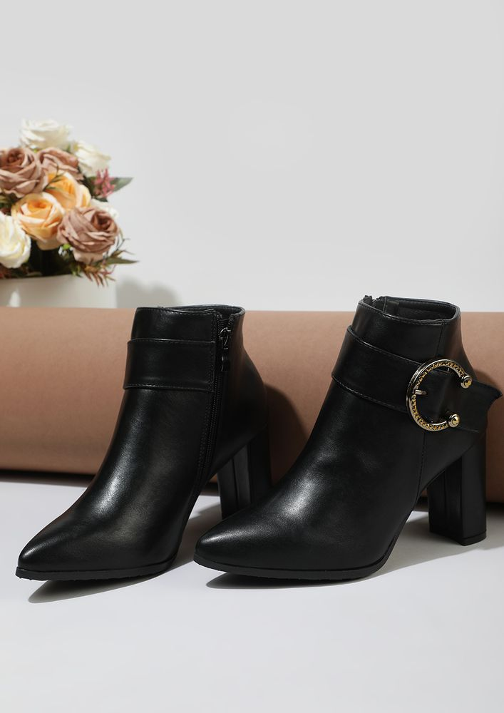 BETWEEN DESK-TO-DINNER BLACK ANKLE BOOTS