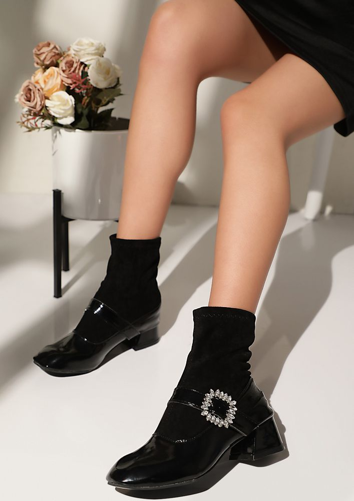 SOCK IT TO ME BLACK BOOTS