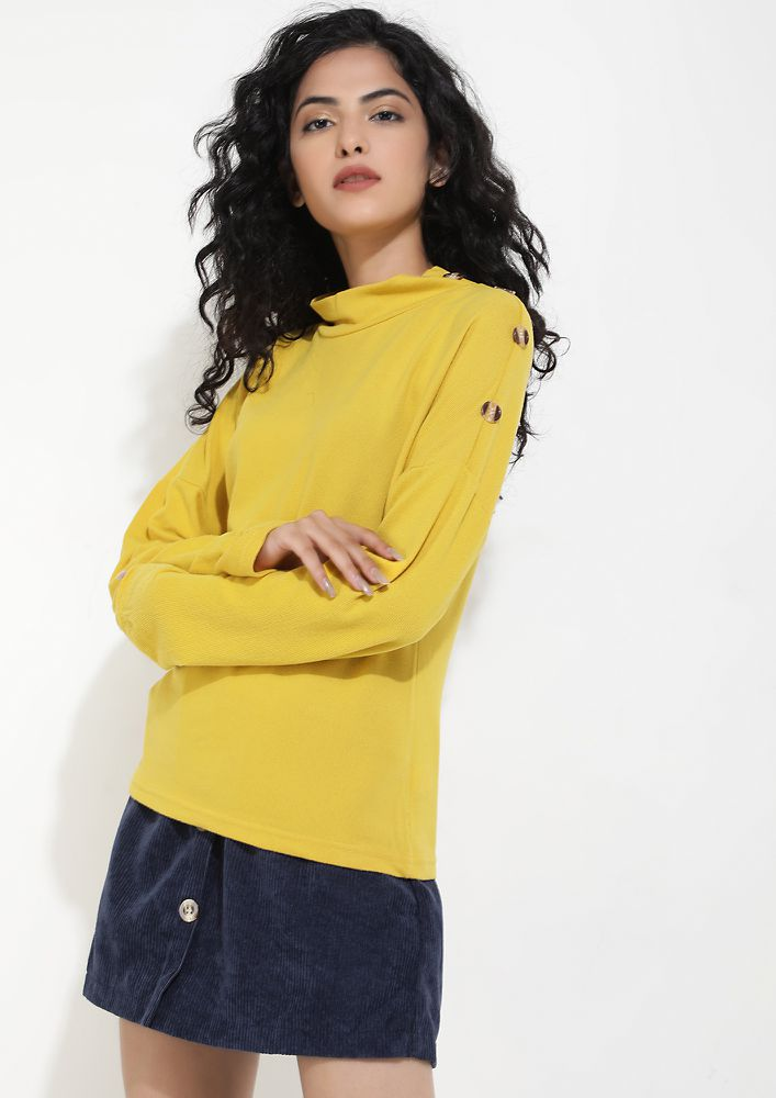 MELLOW DOWN FOR WHAT YELLOW JUMPER