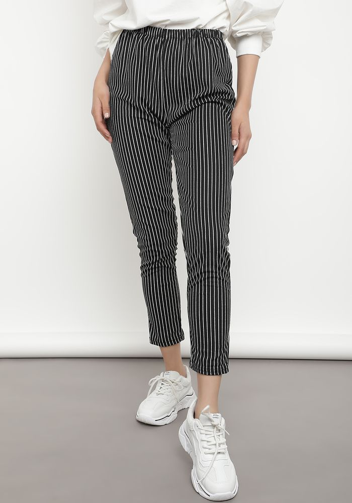 PUT A PINSTRIPE IN THAT BLACK TROUSER