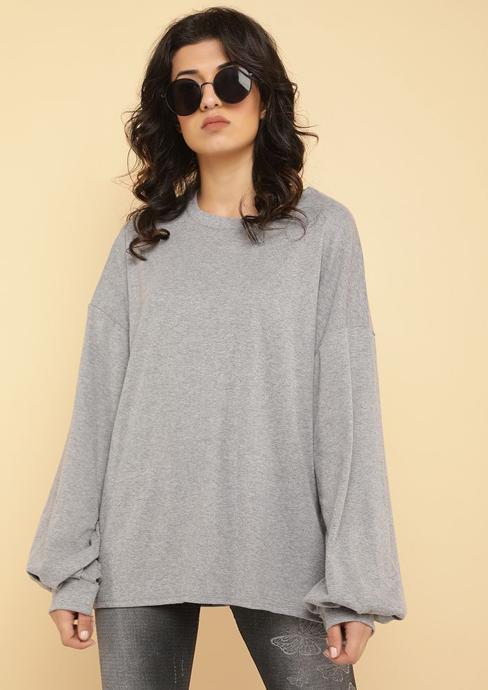 RING THAT BELL GREY SWEATSHIRT