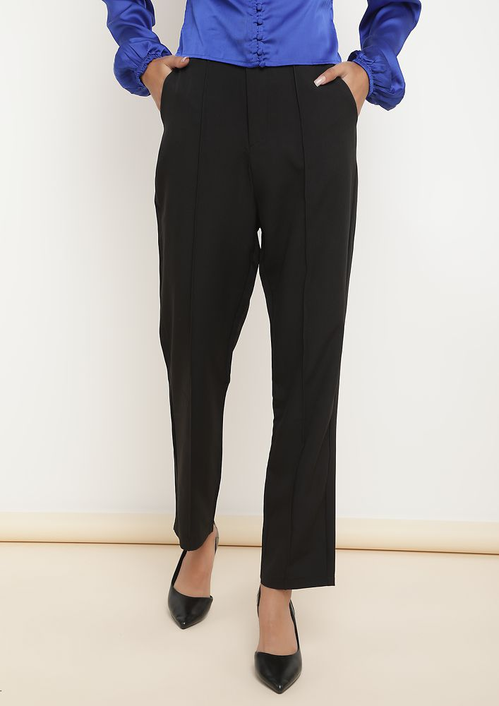 CORPORATE CALLS BLACK CIGARETTE PANTS