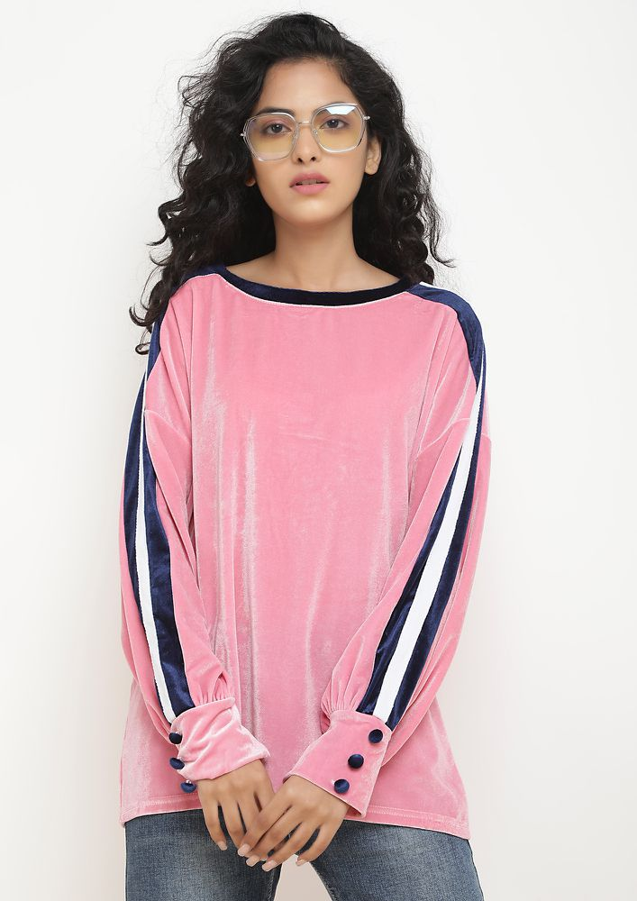 GO COMFY EFFORTLESSLY PINK JUMPER