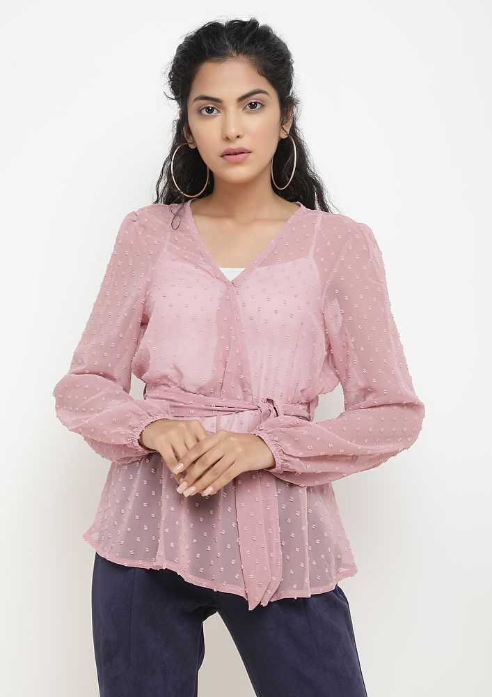 HOW DO YOU SHEER LILAC BLOUSE