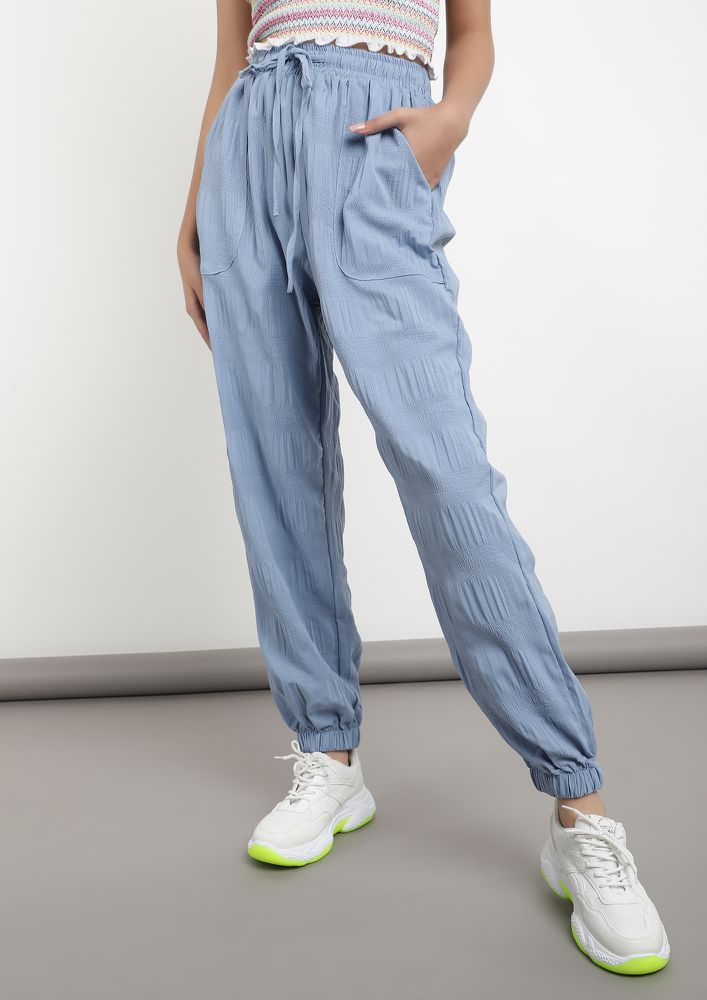 WAY MORE COMFORT BLUE JOGGERS