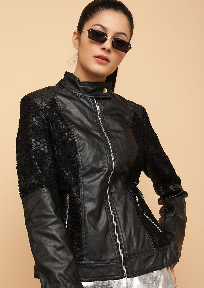 THAT BIKER GAL BLACK BIKER JACKET