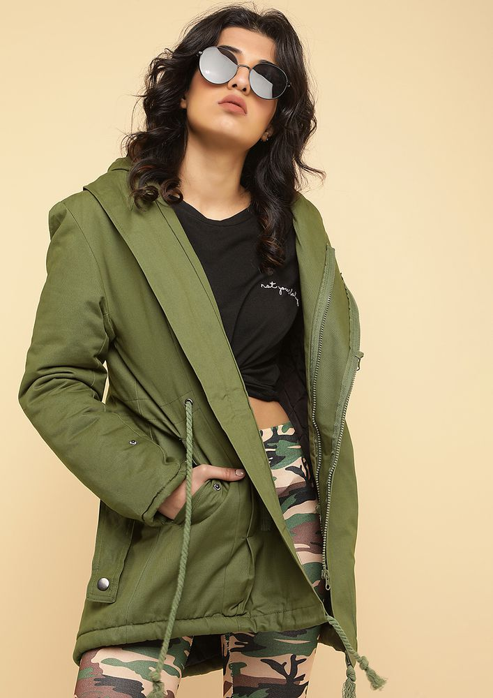 WILD SIDE ARMY GREEN PARKA