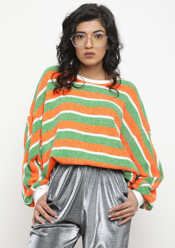 STRIPE HERE STRIPE NOW MULTICOLOUR JUMPER