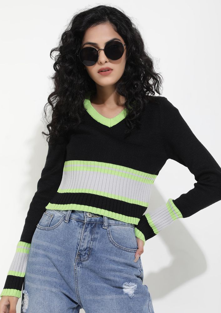 COLD WEATHER FRIENDLY MULTICOLOR KNITTED VEST