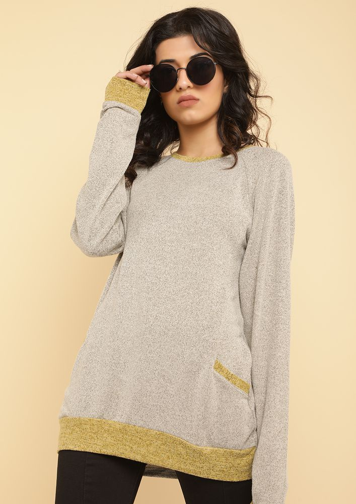 LAZY DAYS KHAKI JUMPER