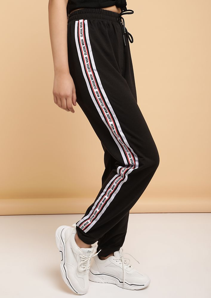 GONE FOR A RUN BLACK JOGGERS
