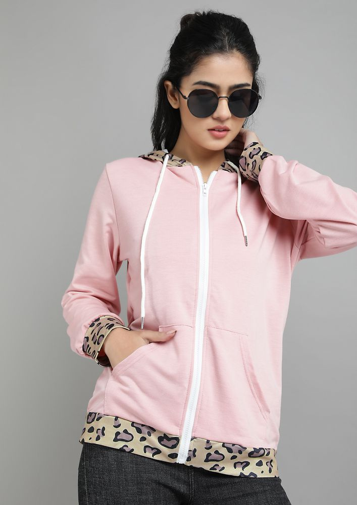THE RIGHT KINDA WILD PINK HOODED JACKET
