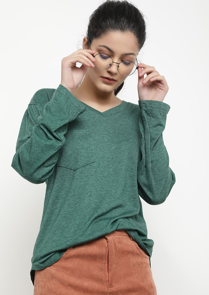 CLEARLY BASIC GREEN T-SHIRT
