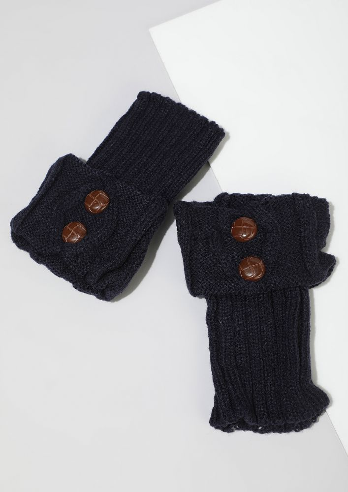 TWO TO SHOW NAVY HAND/LEG WARMER