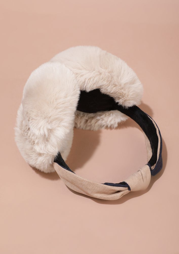 NOT HEARING YOU OUT BLUSH PINK EARMUFF