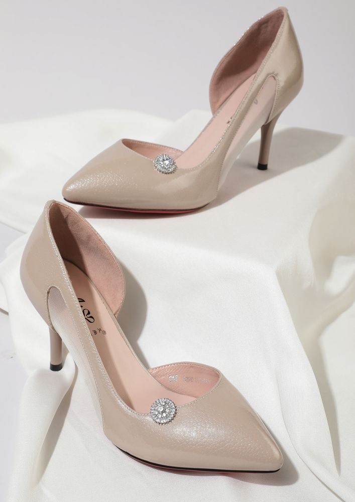 FINDERS KEEPERS BEIGE PUMPS
