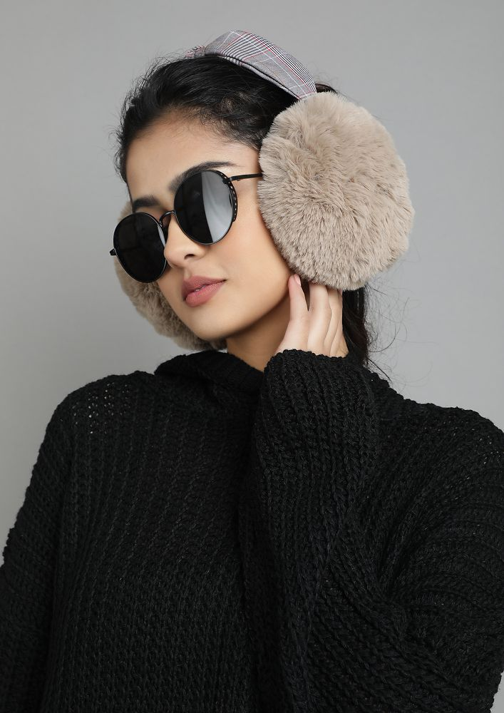 WINTER TOPPINGS TAUPE EARMUFF