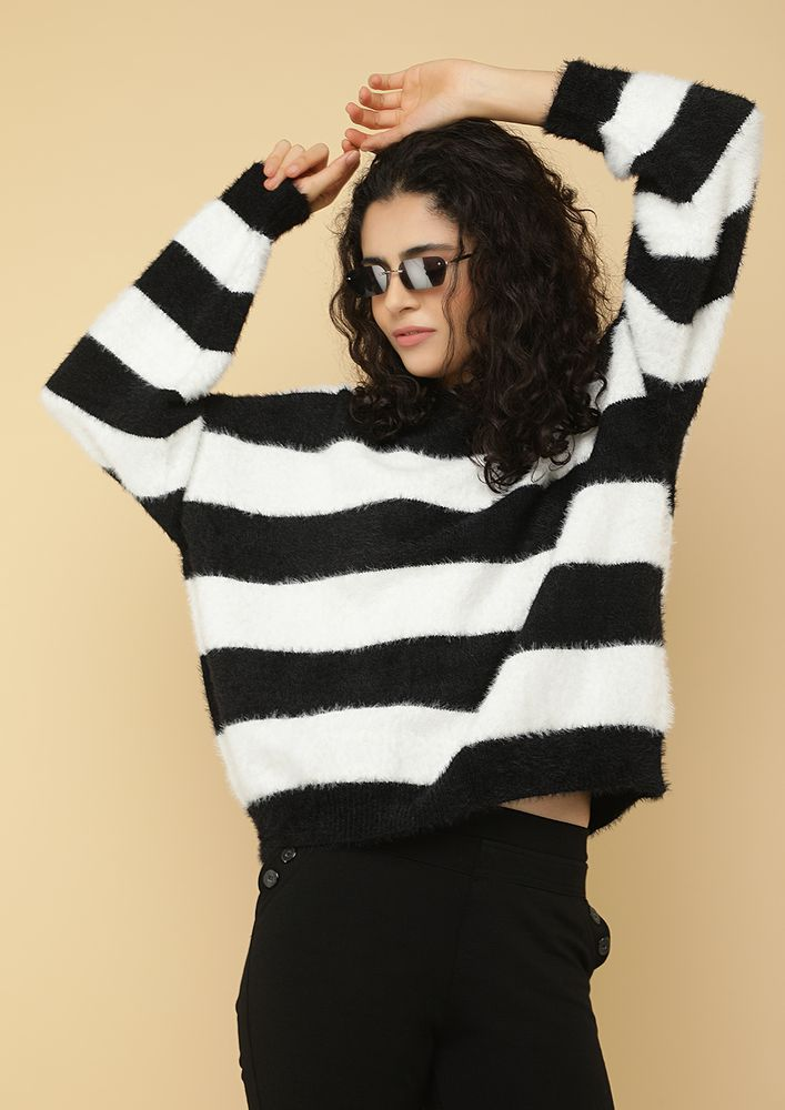SOFT STRIPES BLACK JUMPER