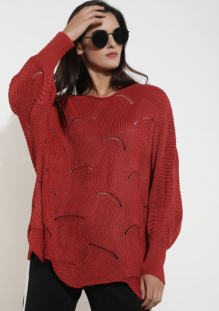 CLOUDS OF THOUGHTS RED JUMPER