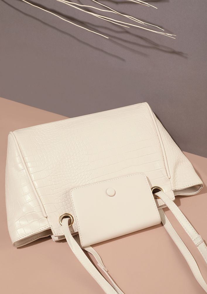 WHIMS AND FANCIES IN WHITE TOTE BAG