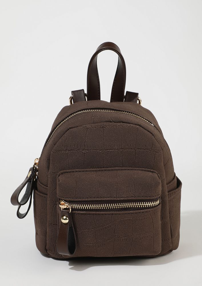 NOT GOING BACK TO SCHOOL BROWN BACKPACK