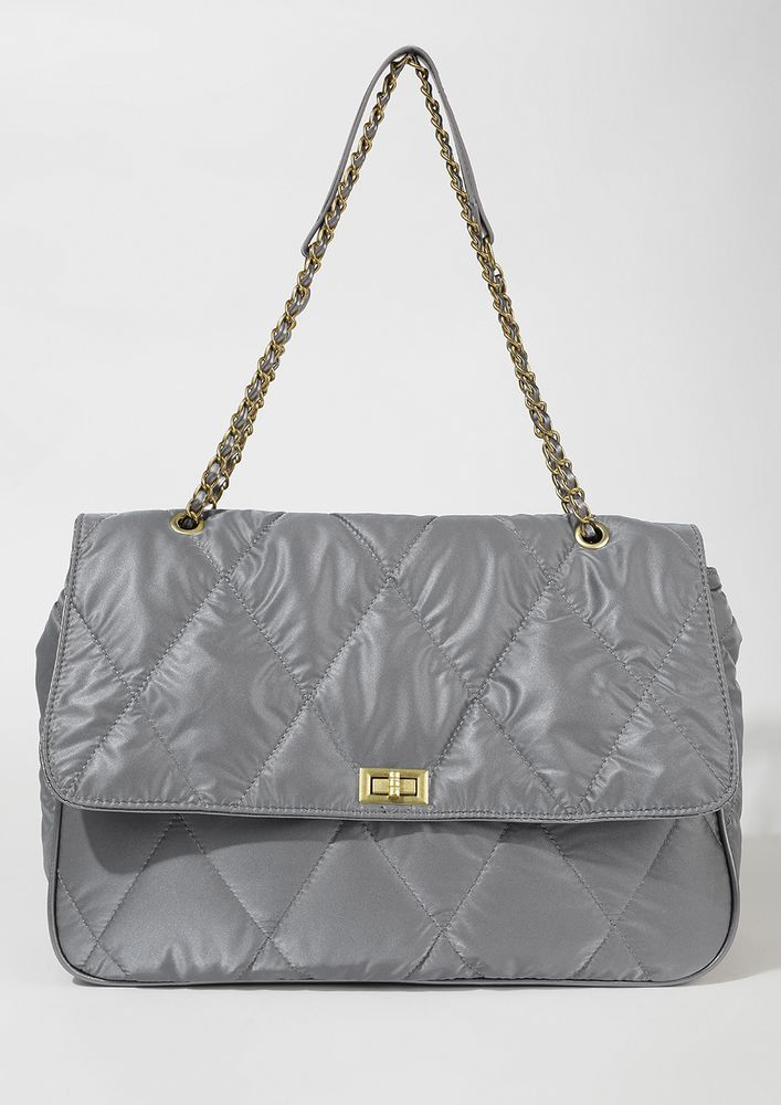 HIGH ATTITUDE QUILTED GREY TRAVEL BAG