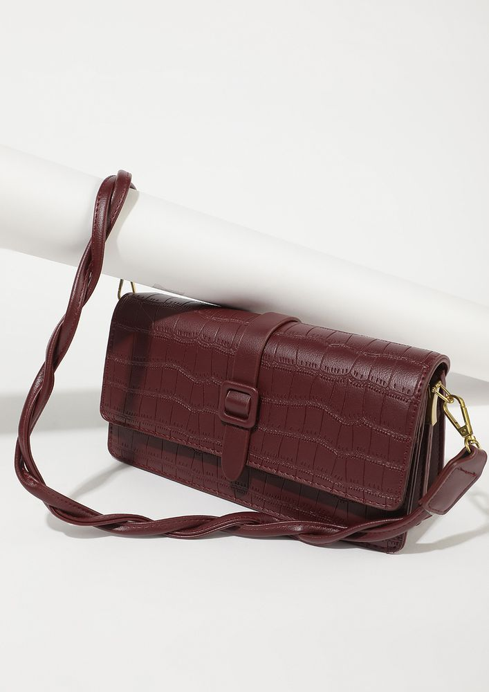 BOSS TO BABE MAROON SLING BAG