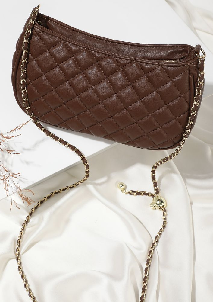 PRETTY LITTLE THINGS CHOCOLATE BROWN SLING BAG
