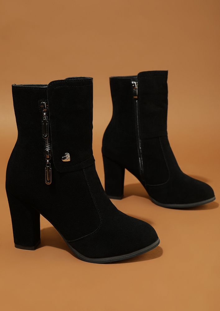 FROM HIGH-STREET WITH LOVE BLACK ANKLE BOOTS